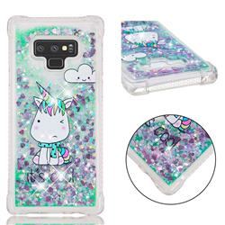 Tiny Unicorn Dynamic Liquid Glitter Sand Quicksand Star TPU Case for Samsung Galaxy Note9