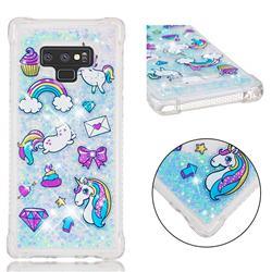 Fashion Unicorn Dynamic Liquid Glitter Sand Quicksand Star TPU Case for Samsung Galaxy Note9