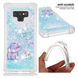 Bubble Jumbo Rabbit Dynamic Liquid Glitter Sand Quicksand Star TPU Case for Samsung Galaxy Note9