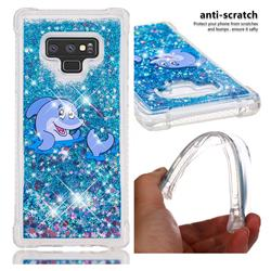 Happy Dolphin Dynamic Liquid Glitter Sand Quicksand Star TPU Case for Samsung Galaxy Note9