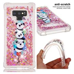 Three Pandas Dynamic Liquid Glitter Sand Quicksand Star TPU Case for Samsung Galaxy Note9