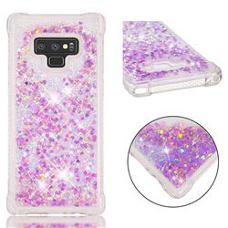 Dynamic Liquid Glitter Sand Quicksand Star TPU Case for Samsung Galaxy Note9 - Rose