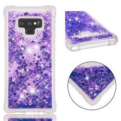 Dynamic Liquid Glitter Sand Quicksand Star TPU Case for Samsung Galaxy Note9 - Purple