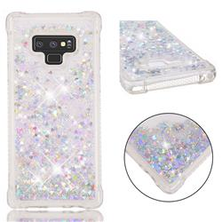 Dynamic Liquid Glitter Sand Quicksand Star TPU Case for Samsung Galaxy Note9 - Silver
