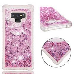 Dynamic Liquid Glitter Sand Quicksand Star TPU Case for Samsung Galaxy Note9 - Diamond Rose