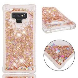 Dynamic Liquid Glitter Sand Quicksand Star TPU Case for Samsung Galaxy Note9 - Diamond Gold