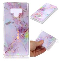 Pink Purple Marble Pattern Bright Color Laser Soft TPU Case for Samsung Galaxy Note9