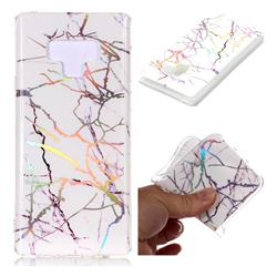 Color White Marble Pattern Bright Color Laser Soft TPU Case for Samsung Galaxy Note9