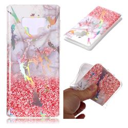 Powder Sandstone Marble Pattern Bright Color Laser Soft TPU Case for Samsung Galaxy Note9