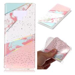 Matching Color Marble Pattern Bright Color Laser Soft TPU Case for Samsung Galaxy Note9