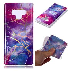 Dream Sky Marble Pattern Bright Color Laser Soft TPU Case for Samsung Galaxy Note9