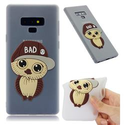 Bad Boy Owl Soft 3D Silicone Case for Samsung Galaxy Note9 - Translucent White
