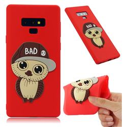 Bad Boy Owl Soft 3D Silicone Case for Samsung Galaxy Note9 - Red