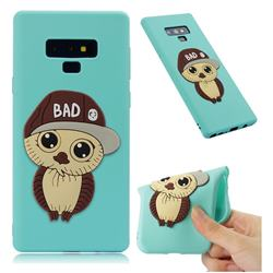 Bad Boy Owl Soft 3D Silicone Case for Samsung Galaxy Note9 - Sky Blue