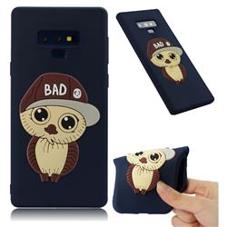 Bad Boy Owl Soft 3D Silicone Case for Samsung Galaxy Note9 - Navy