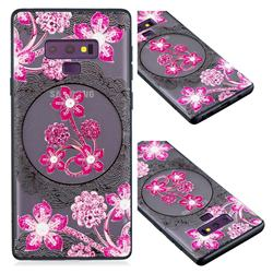 Daffodil Lace Diamond Flower Soft TPU Back Cover for Samsung Galaxy Note9