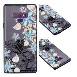 Lilac Lace Diamond Flower Soft TPU Back Cover for Samsung Galaxy Note9