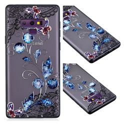 Butterfly Lace Diamond Flower Soft TPU Back Cover for Samsung Galaxy Note9