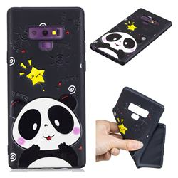 Cute Bear 3D Embossed Relief Black TPU Cell Phone Back Cover for Samsung Galaxy Note9
