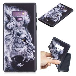 Lion 3D Embossed Relief Black TPU Cell Phone Back Cover for Samsung Galaxy Note9