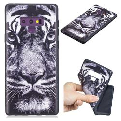 White Tiger 3D Embossed Relief Black TPU Cell Phone Back Cover for Samsung Galaxy Note9