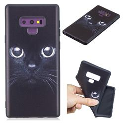 Bearded Feline 3D Embossed Relief Black TPU Cell Phone Back Cover for Samsung Galaxy Note9