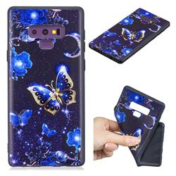 Phnom Penh Butterfly 3D Embossed Relief Black TPU Cell Phone Back Cover for Samsung Galaxy Note9