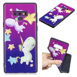 Pony 3D Embossed Relief Black TPU Cell Phone Back Cover for Samsung Galaxy Note9
