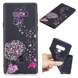 Corolla Girl 3D Embossed Relief Black TPU Cell Phone Back Cover for Samsung Galaxy Note9