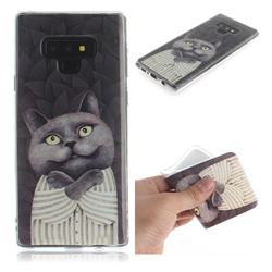 Cat Embrace IMD Soft TPU Cell Phone Back Cover for Samsung Galaxy Note9