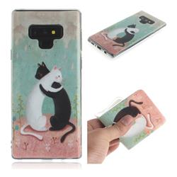 Black and White Cat IMD Soft TPU Cell Phone Back Cover for Samsung Galaxy Note9