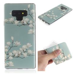 Magnolia Flower IMD Soft TPU Cell Phone Back Cover for Samsung Galaxy Note9