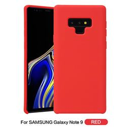 Howmak Slim Liquid Silicone Rubber Shockproof Phone Case Cover for Samsung Galaxy Note9 - Red