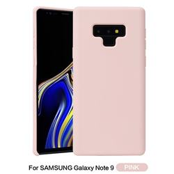 Howmak Slim Liquid Silicone Rubber Shockproof Phone Case Cover for Samsung Galaxy Note9 - Pink