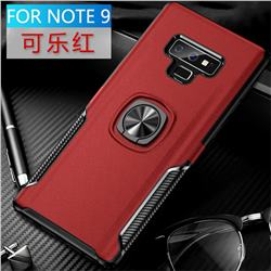 Knight Armor Anti Drop PC + Silicone Invisible Ring Holder Phone Cover for Samsung Galaxy Note9 - Red