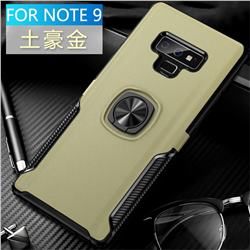 Knight Armor Anti Drop PC + Silicone Invisible Ring Holder Phone Cover for Samsung Galaxy Note9 - Champagne