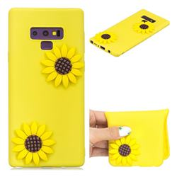 Yellow Sunflower Soft 3D Silicone Case for Samsung Galaxy Note9