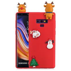 Red Elk Christmas Xmax Soft 3D Silicone Case for Samsung Galaxy Note9
