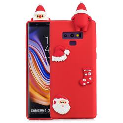 Red Santa Claus Christmas Xmax Soft 3D Silicone Case for Samsung Galaxy Note9