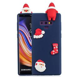 Navy Santa Claus Christmas Xmax Soft 3D Silicone Case for Samsung Galaxy Note9
