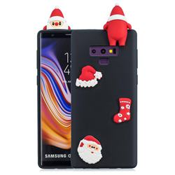 Black Santa Claus Christmas Xmax Soft 3D Silicone Case for Samsung Galaxy Note9