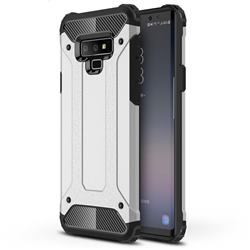 King Kong Armor Premium Shockproof Dual Layer Rugged Hard Cover for Samsung Galaxy Note9 - Technology Silver