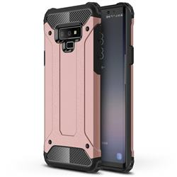 King Kong Armor Premium Shockproof Dual Layer Rugged Hard Cover for Samsung Galaxy Note9 - Rose Gold