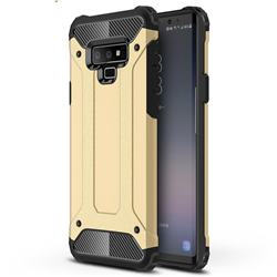 King Kong Armor Premium Shockproof Dual Layer Rugged Hard Cover for Samsung Galaxy Note9 - Champagne Gold