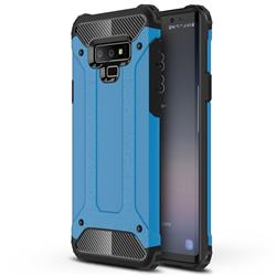 King Kong Armor Premium Shockproof Dual Layer Rugged Hard Cover for Samsung Galaxy Note9 - Sky Blue