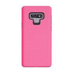 Triangle Texture Shockproof Hybrid Rugged Armor Defender Phone Case for Samsung Galaxy Note9 - Rose