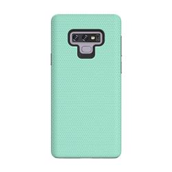 Triangle Texture Shockproof Hybrid Rugged Armor Defender Phone Case for Samsung Galaxy Note9 - Mint Green