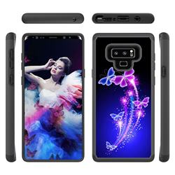 Dancing Butterflies Shock Absorbing Hybrid Defender Rugged Phone Case Cover for Samsung Galaxy Note9