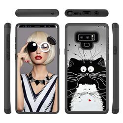 Black and White Cat Shock Absorbing Hybrid Defender Rugged Phone Case Cover for Samsung Galaxy Note9