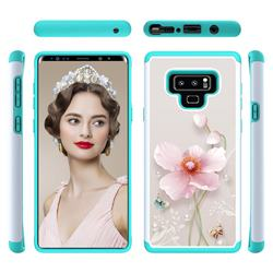Pearl Flower Shock Absorbing Hybrid Defender Rugged Phone Case Cover for Samsung Galaxy Note9